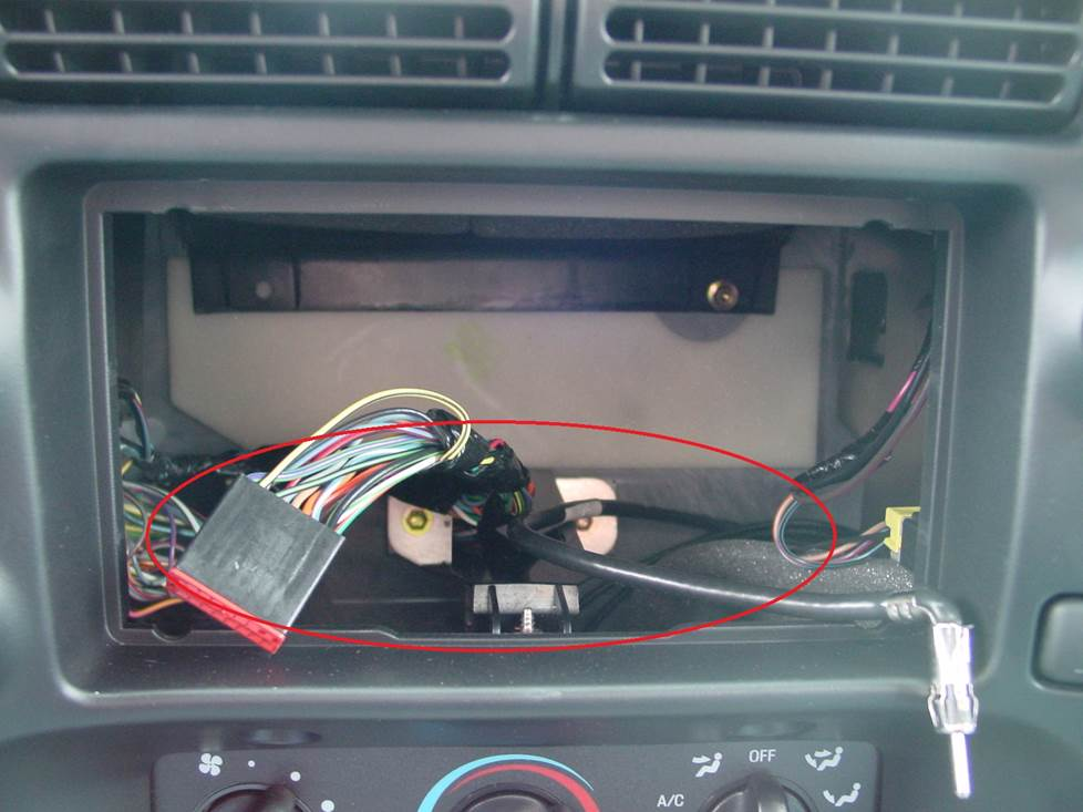 Modification required for new stereo installation