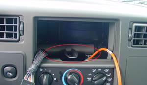 2004 Ford F-350 You'll have to modify your vehicle's sub-dash to install a new car stereo.