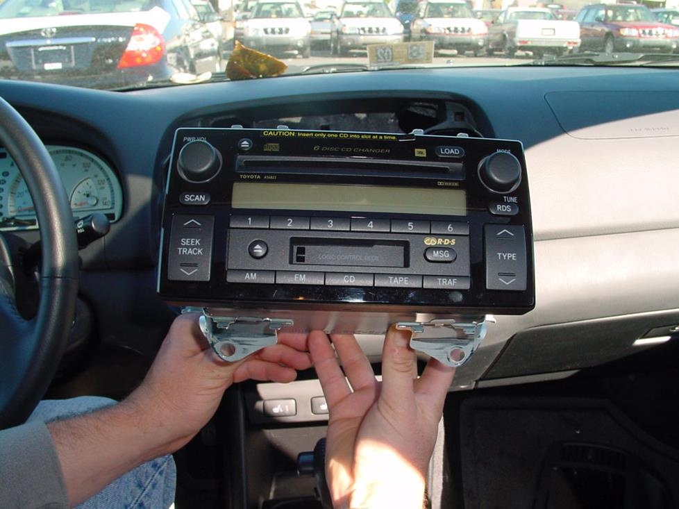 toyota camry radio removal