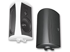 on a pair of Definitive Technology outdoor speakers