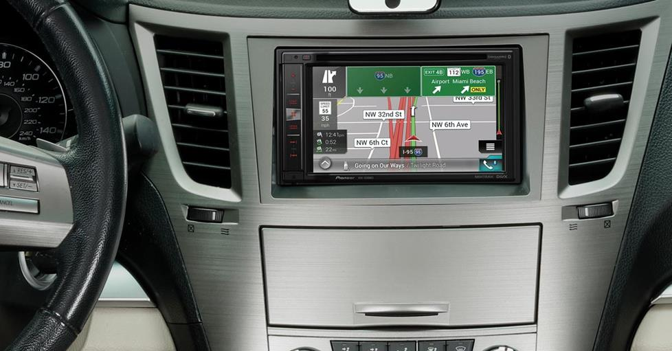 Pioneer AVIC-5200NEX installed in a Subaru Outback