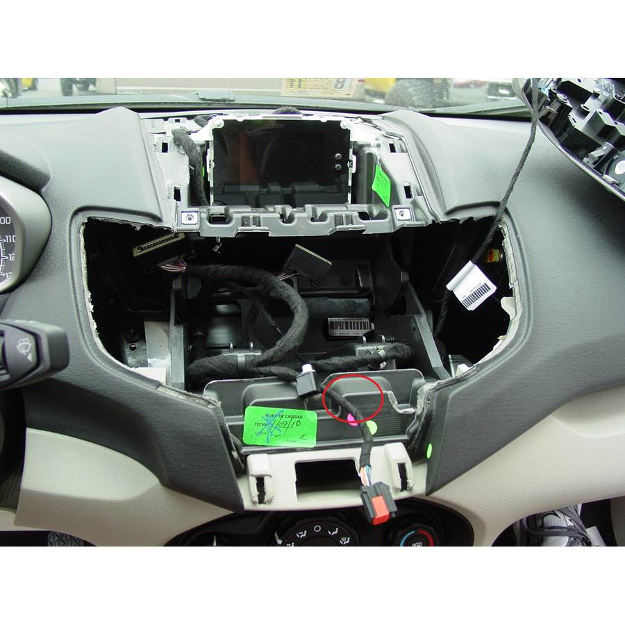 2011 Ford Fiesta You'll have to modify your vehicle's sub-dash to install a new car stereo.