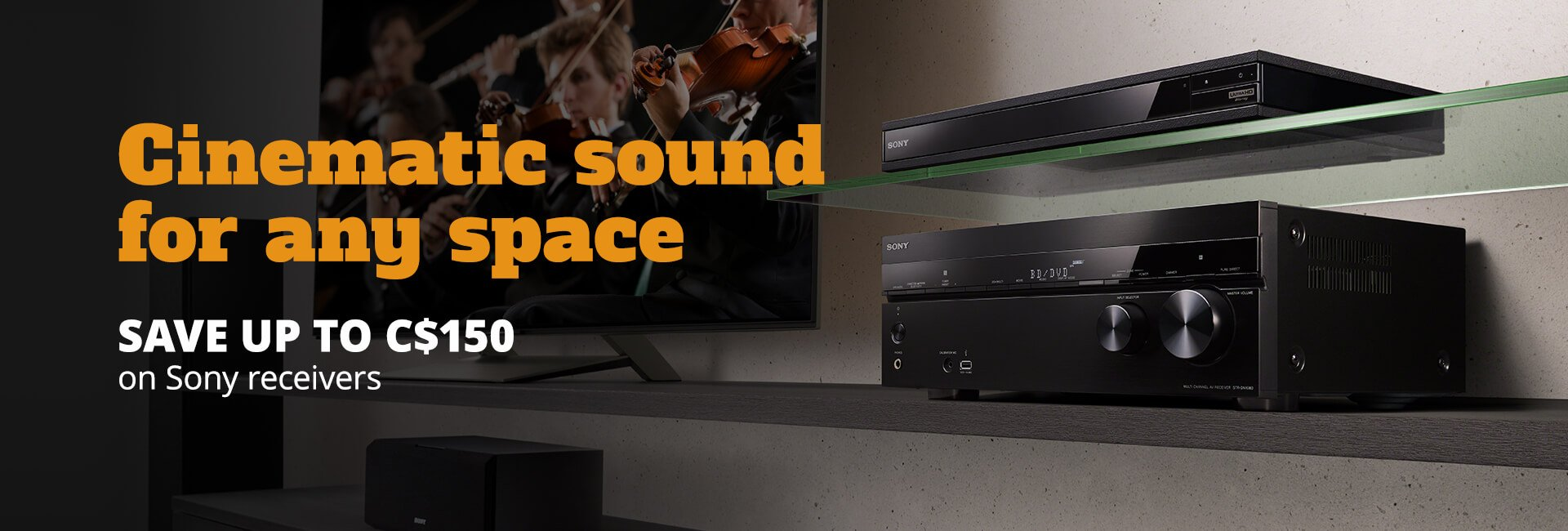 Save up to C$150 on Sony receivers