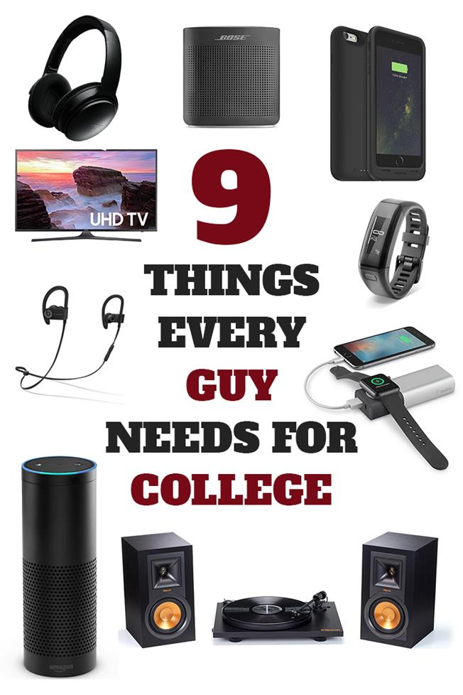 9 Things Every Guy Needs For College