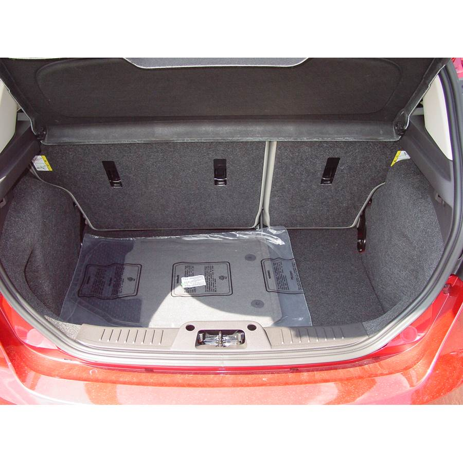 2011 Ford Fiesta Cargo space