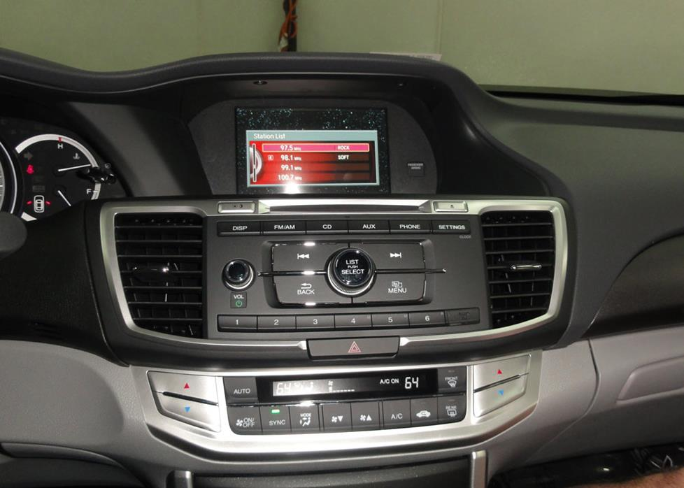 honda accord sedan base radio