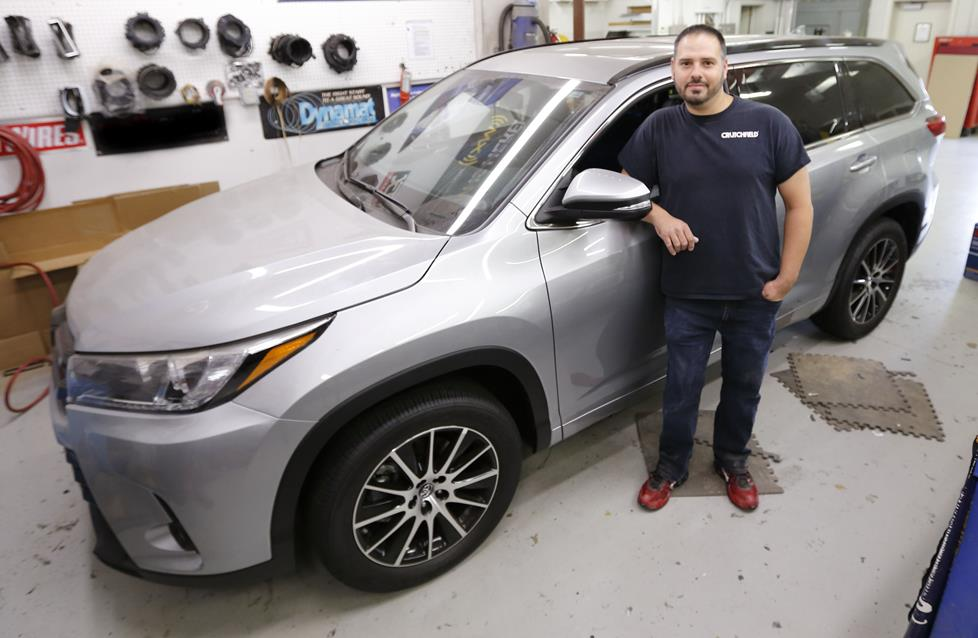 Jason with the Pioneer Toyota Highlander