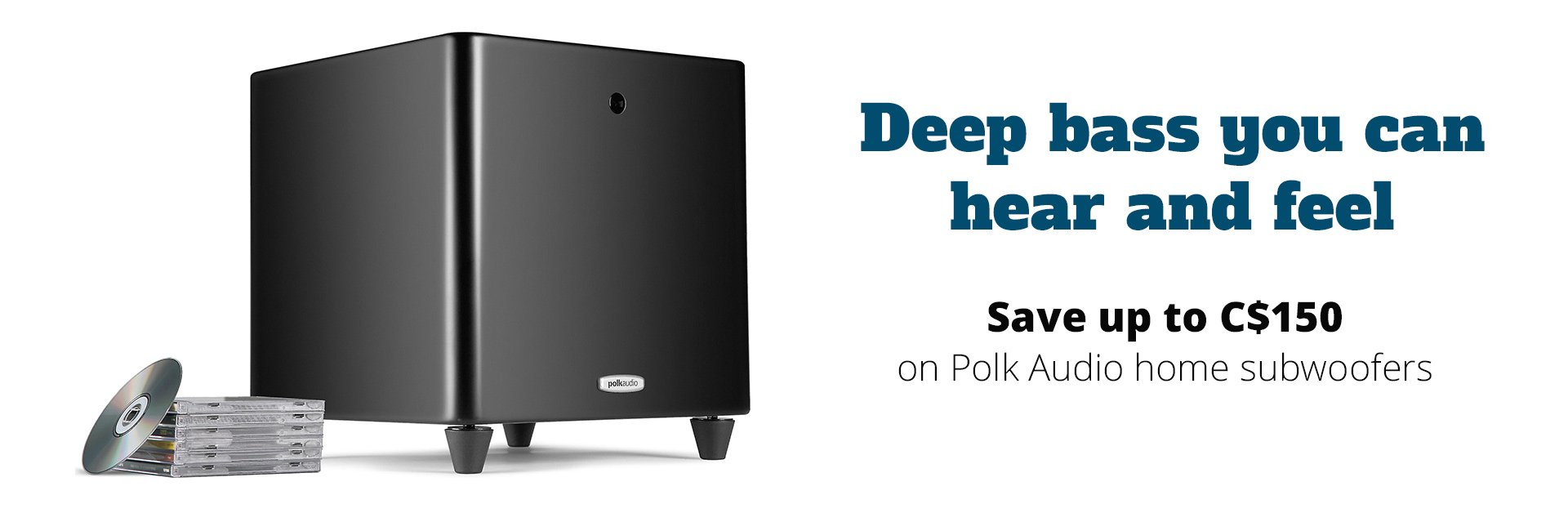 Save up to C$150 on Polk Audio home subwoofers