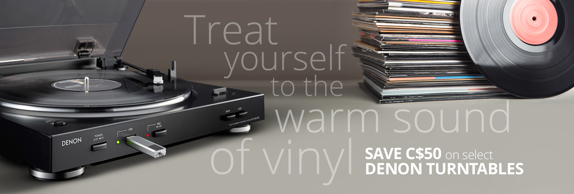 Save C$50 on these Denon turntables