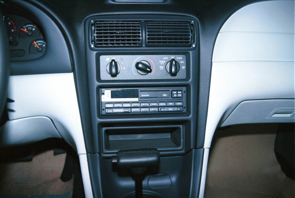 ford mustang base radio