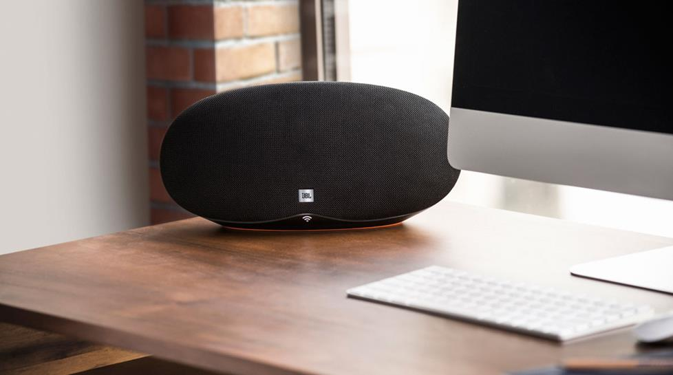 JBL Playlist speaker on desk