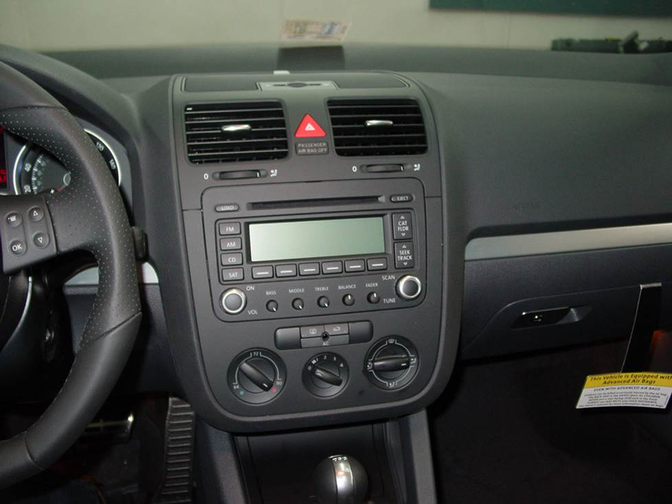 vw gti stock radio
