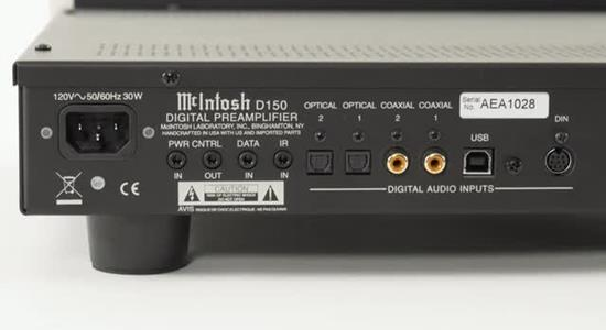 McIntosh D150 stereo digital preamp
