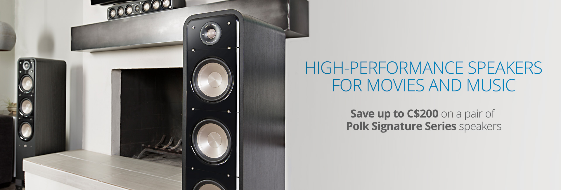 Save up to C$200 on a pair of Polk Signature speakers