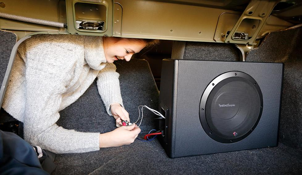 subwoofer install