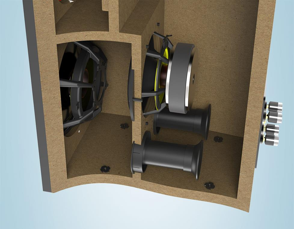 cutaway view of Adante speaker cavity