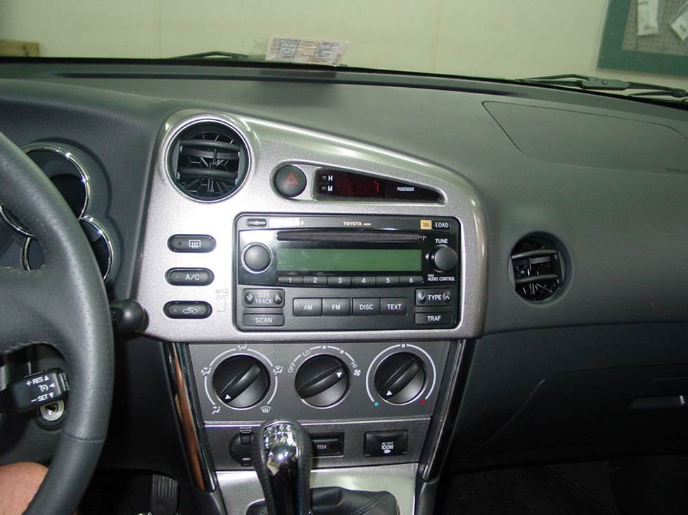 toyota matrix factory radio