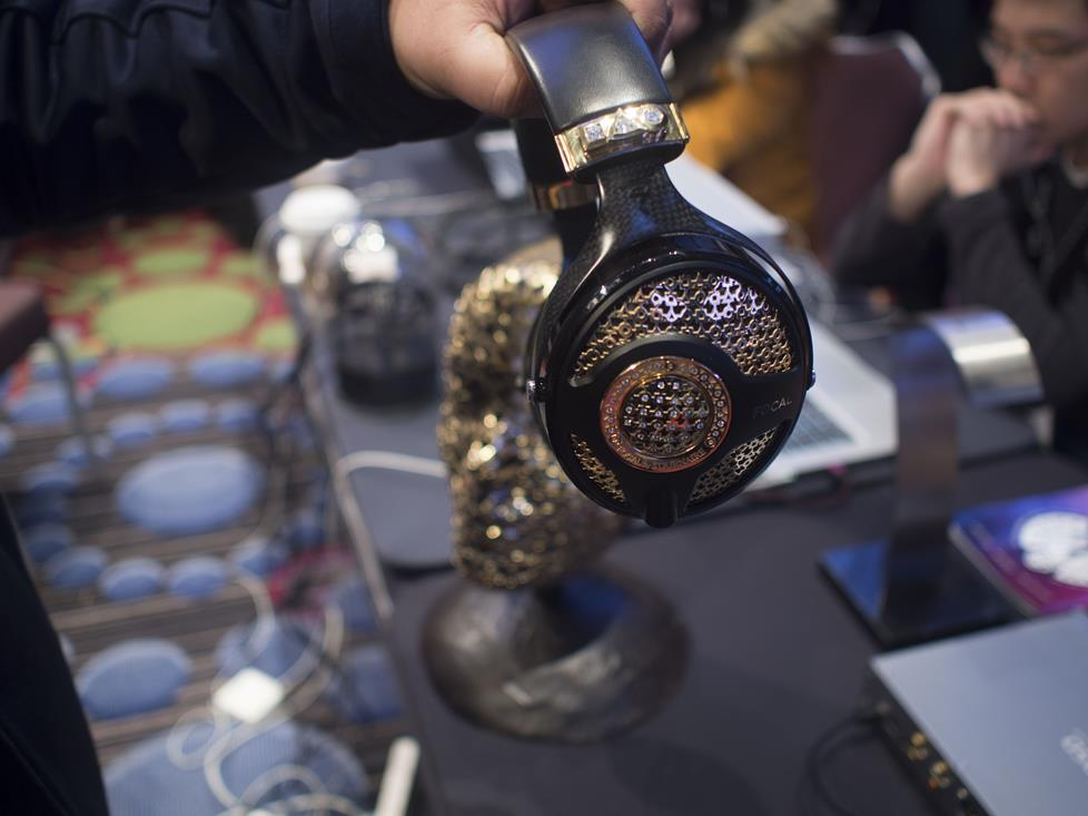 Focal Utopia headphones lined with diamonds