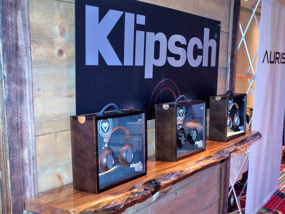 The Klipsch booth