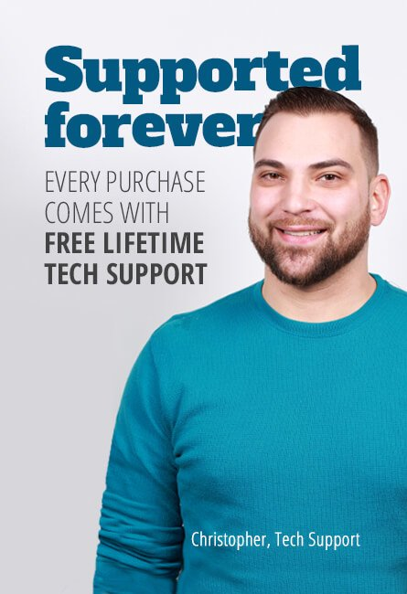 Free tech support for the life of your gear