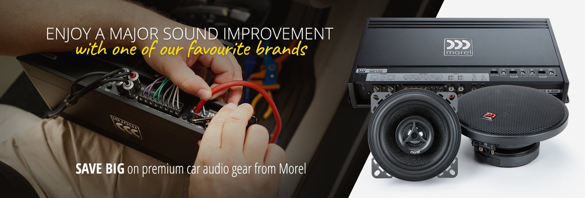 Save big on premium car audio gear from Morel