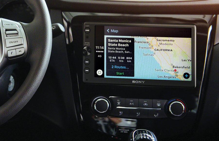 Apple CarPlay map example