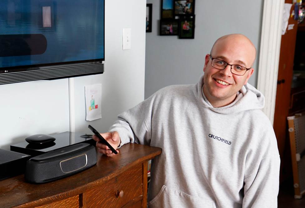 The author at home with his Chromecast speaker