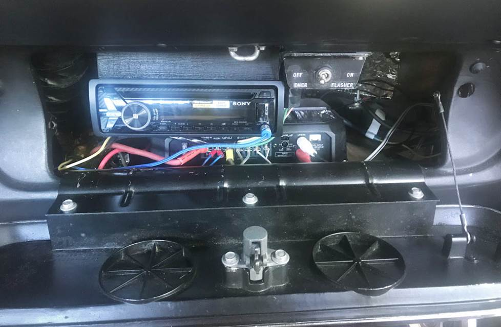 ford mustang glovebox stereo