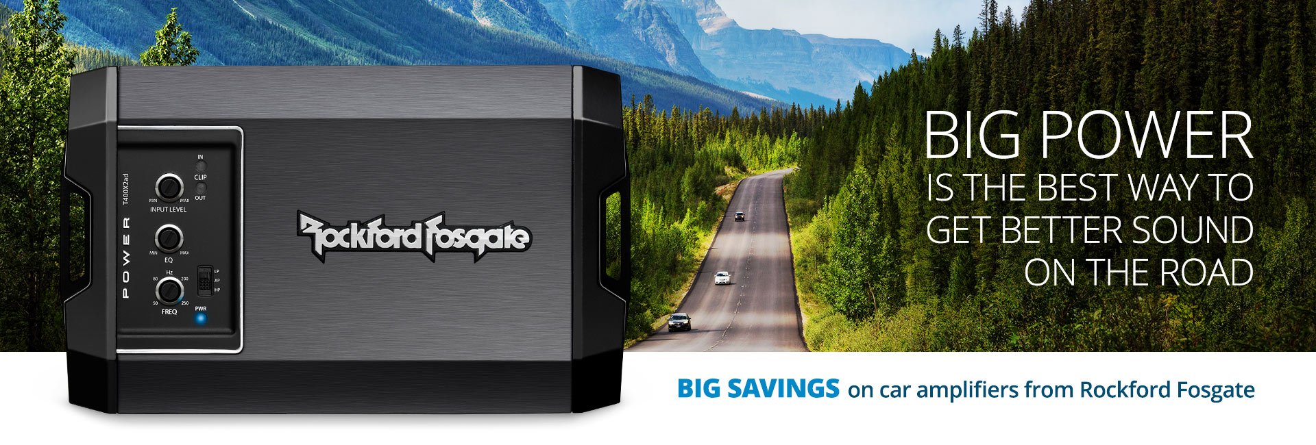 Big savings on car amplifiers from Rockford Fosgate
