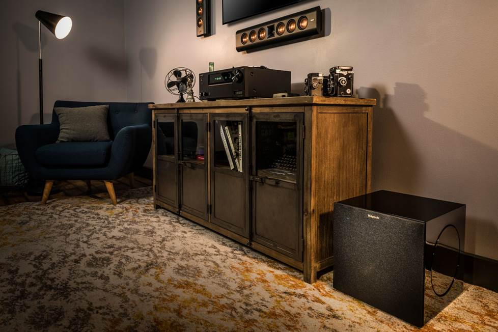 Klipsch subwoofer in living room