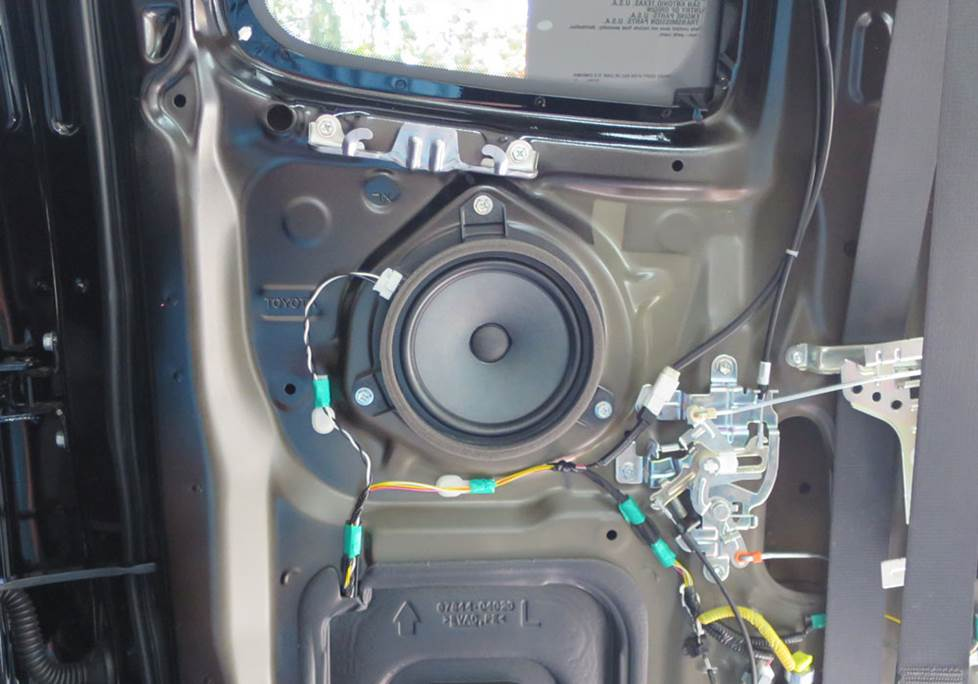 toyota tacoma access cab door speaker