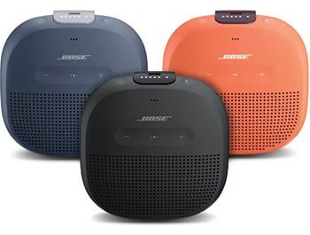 on a Bose® Soundlink® Micro Bluetooth® speaker