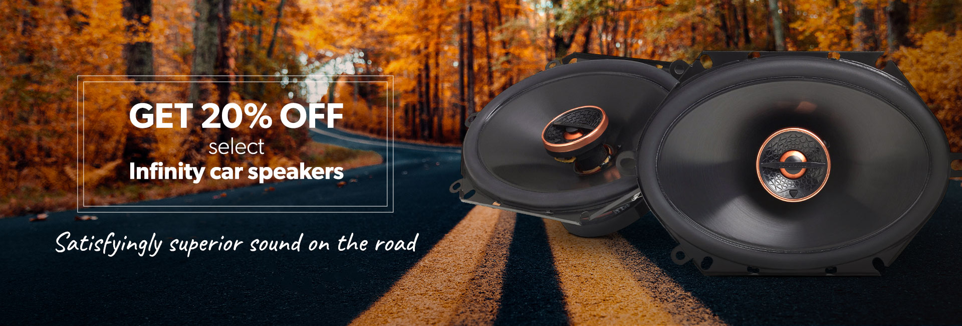 Get 20% off select Infinity car speakers