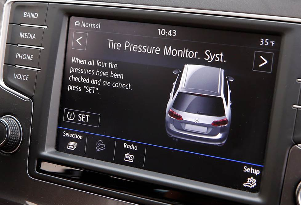 Tire pressure display