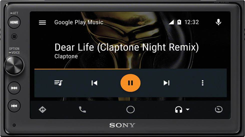 Google Play Music via Android Auto in a Sony XAV-AX100 receiver