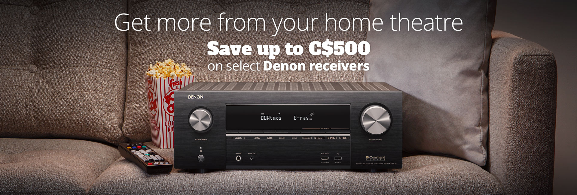Save up to C$500 on select Denon receivers