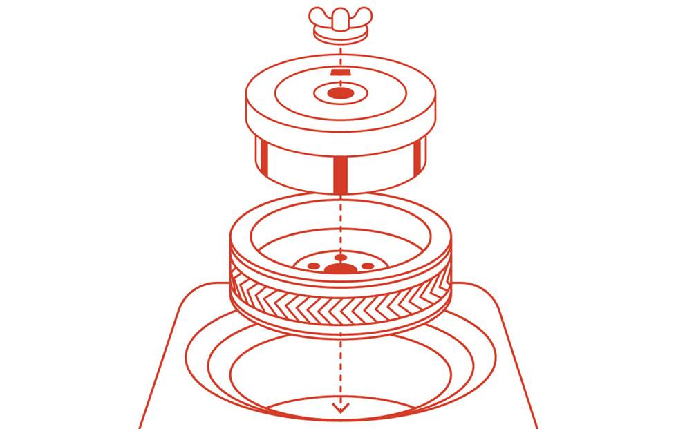 Diagram of the spare tire subwoofer installation order