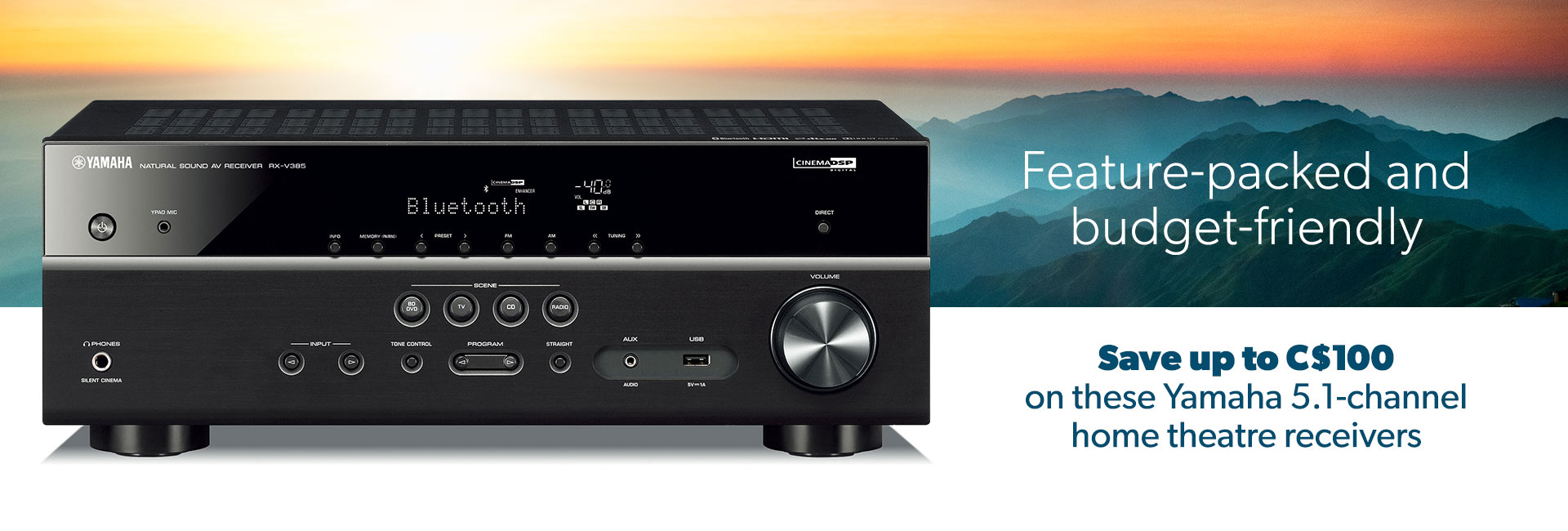 Save up to C$100 on these Yamaha 5.1-channel home theatre receivers