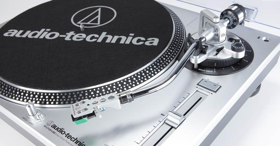 Audio-Technica LP120-USB Manual direct-drive professional turntable with USB output and built-in phono preamp