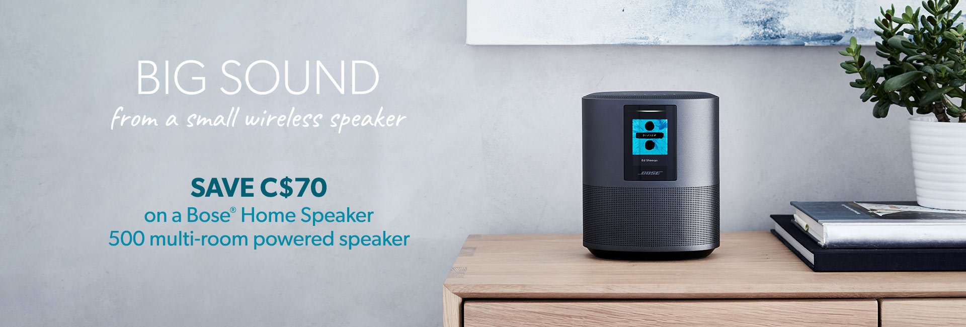 Save C$70 on a Bose® Home Speaker 500 multi-room powered speaker