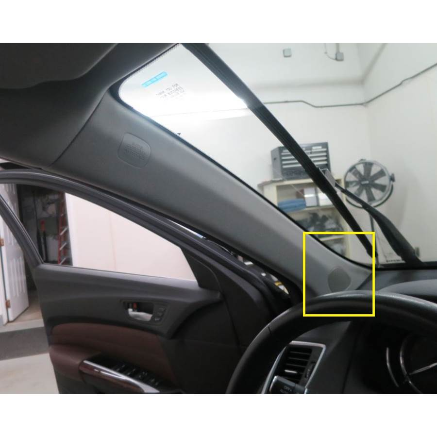 2019 Acura TLX Front pillar speaker location