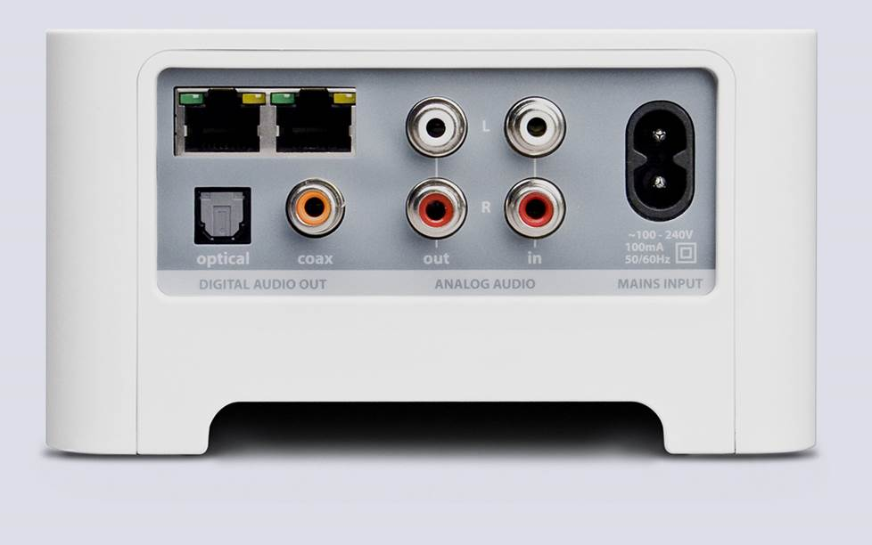 Sonos Connect back panel