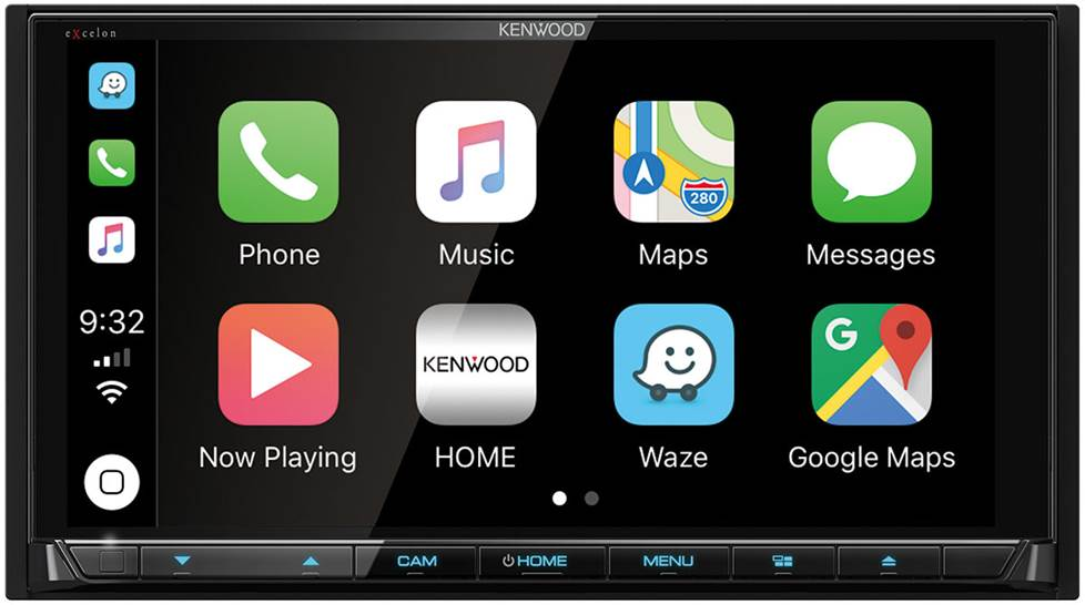 Apple Carplay screen on car stereo