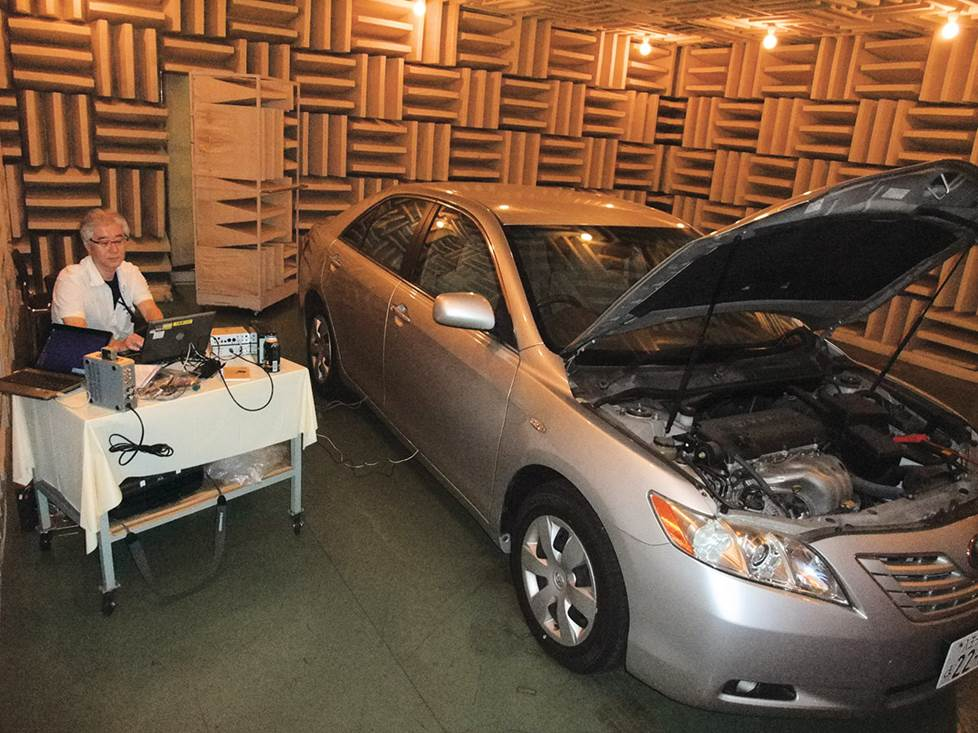 Car audio testing facility