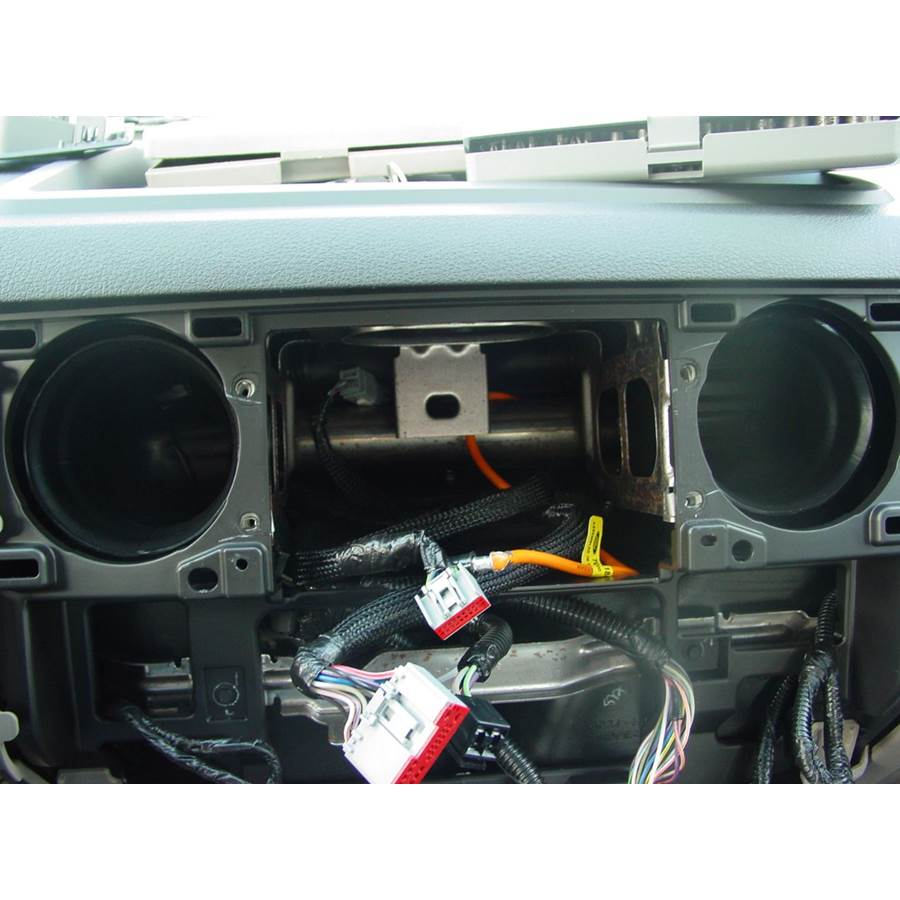 2014 Ford F-650 Factory radio removed