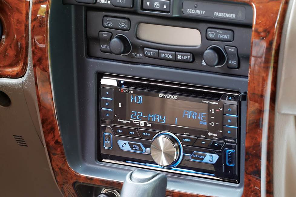 Kenwood Excelon DPX793BH CD receiver in 4Runner dash