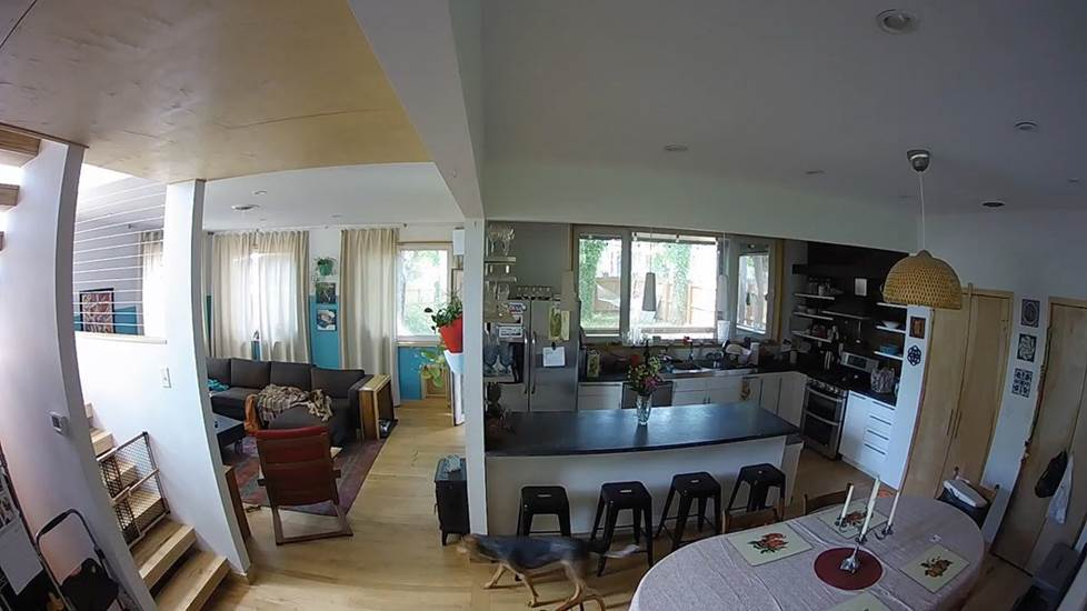 Example of the view from a wide angle camera
