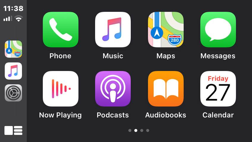 Apple CarPlay apps screen