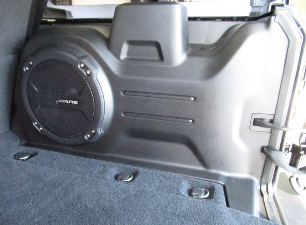 jeep wrangler cargo side subwoofer