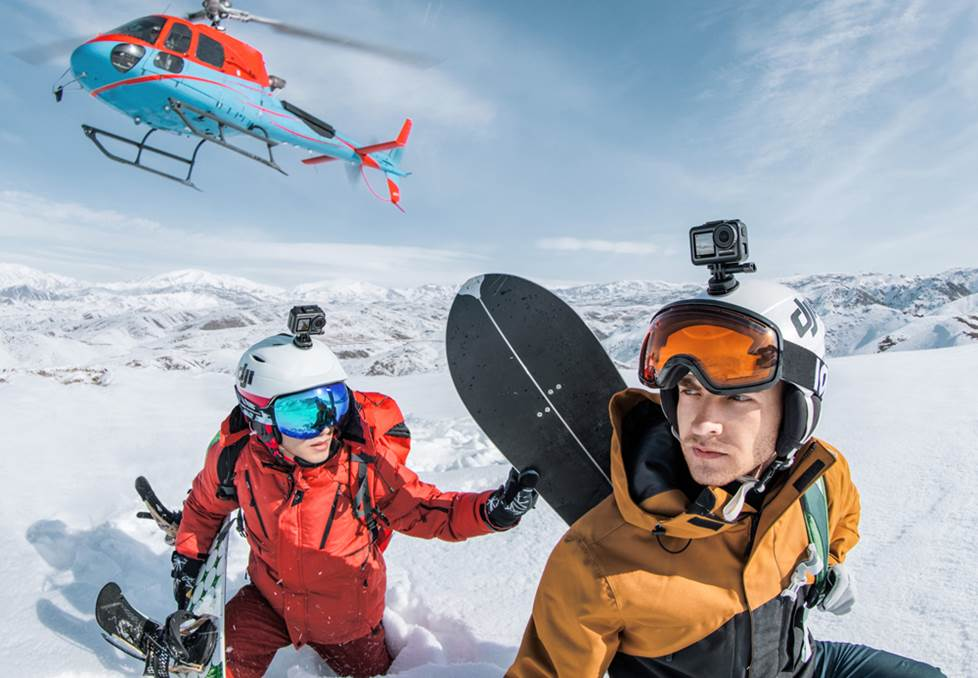 Action cameras for extreme snow sports